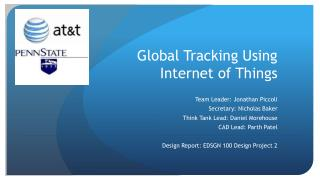 Global  Tracking Using Internet of Things