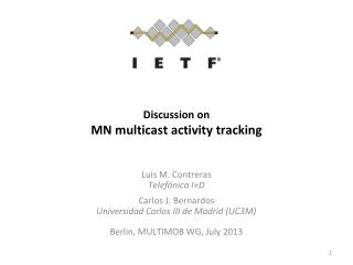 Discussion on MN multicast activity tracking