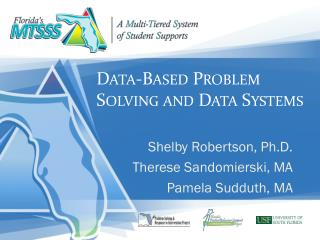 Data-Based Problem Solving and Data Systems