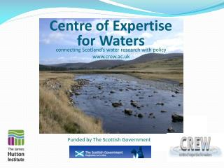 Centre of Expertise  for Waters