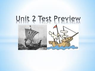 Unit 2 Test Preview