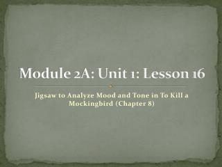 Module 2A: Unit 1: Lesson 16