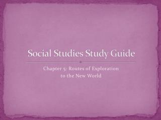 Social Studies  Study Guide