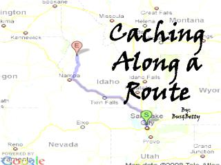 Caching Along a Route