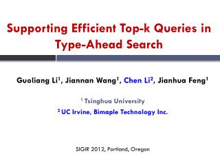 Supporting Efficient Top-k Queries in Type-A h ead Search