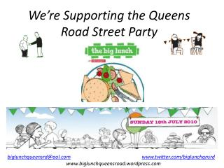 We're Supporting the Queens Road Street Party