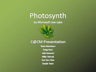 Photosynth by Microsoft Live Labs
