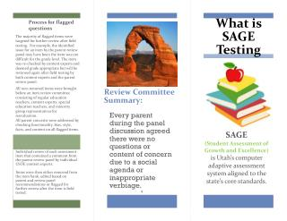 What is SAGE Testing