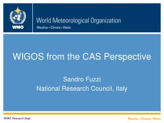 WIGOS from the CAS Perspective