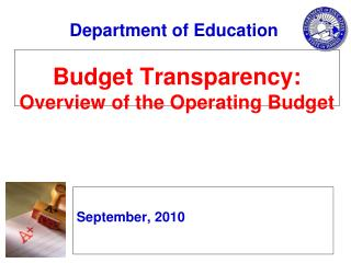 Budget Transparency: Overview of the Operating Budget