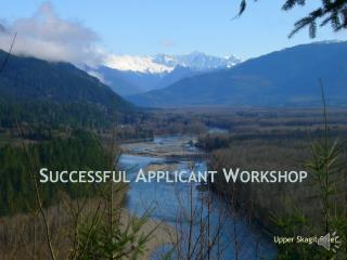 Successful Applicant Workshop