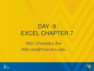 Day - 9 Excel chapter 7