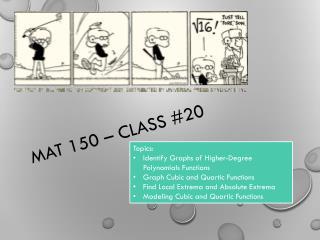 MAT 150 – Class #20