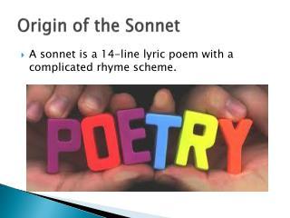 Origin of the Sonnet