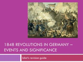 1848 Revolutions in Germany – events and significance