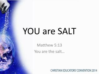 YOU are SALT