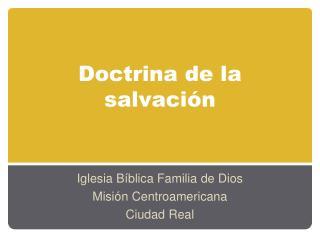 Doctrina de la salvaci�n