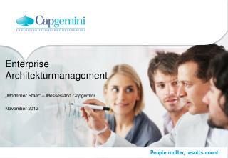 "Enterprise Architekturmanagement ""Moderner Staat"" – Messestand Capgemini"
