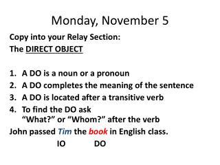 Monday, November 5