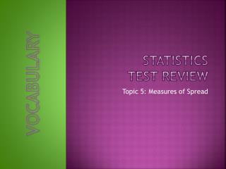 Statistics Test Review