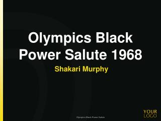 Olympics Black Power Salute  1968