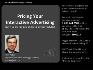 Pricing Your Interactive Advertising