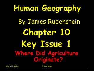 Human Geography  By James Rubenstein