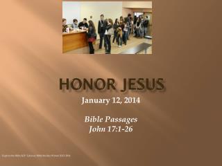 Honor jesus
