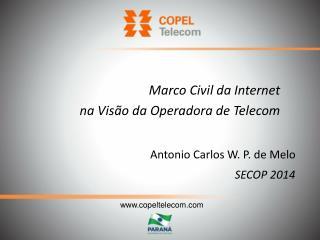 Antonio Carlos W. P. de Melo