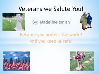 Veterans we  Salute You !