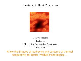 Equation of  Heat Conduction