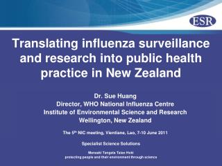 Translating influenza surveillance and research into public health practice in New Zealand