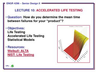 Question:  How do you  determine the mean time between failures for your � product �?