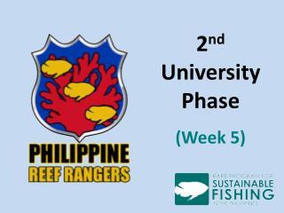 2 nd  University Phase (Week 5)