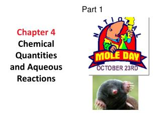 Chapter 4 Chemical Quantities and Aqueous Reactions