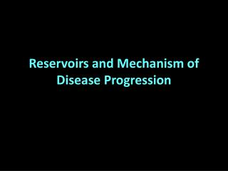 Reservoirs and Mechanism of Disease Progression