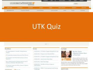 UTK  Quiz