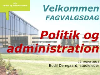 ISG Politik og administration