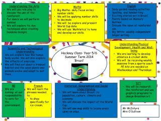 Hockney  Class- Year 5/6  Summer Term 2014 'Brazil'