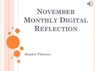 November Monthly Digital Reflection