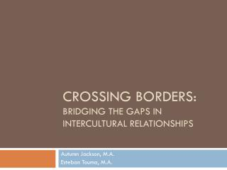 Crossing borders:  bridging  the gaps in intercultural relationships