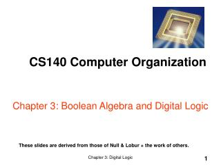 Chapter 3: Boolean Algebra and Digital Logic