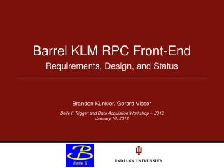 Barrel KLM RPC Front-End