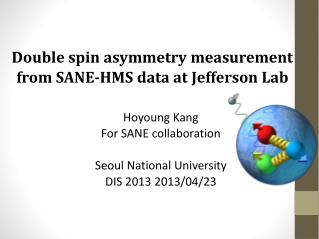 Double spin asymmetry measurement  from SANE-HMS  data at Jefferson Lab