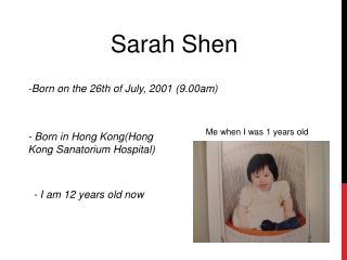 Sarah  Shen