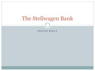 The Stellwagen Bank