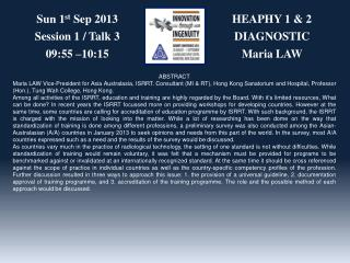 HEAPHY 1 & 2 DIAGNOSTIC Maria  LAW
