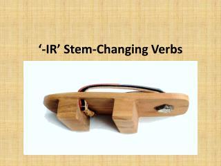 '-IR' Stem-Changing Verbs