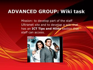 ADVANCED GROUP: Wiki task