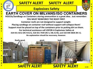 EARTH COVER ON MILVANS/ISO CONTAINERS